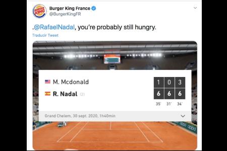 Burger King Post Rafael Nadal