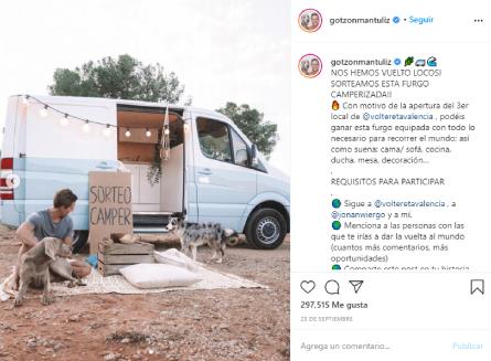 Sorteo Camper Instagram